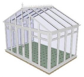 Apex Gable Conservatory 72 - PVCu, Fully Glazed