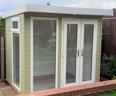 Pent Garden Office 401 Painted Double Glazed Insulated
