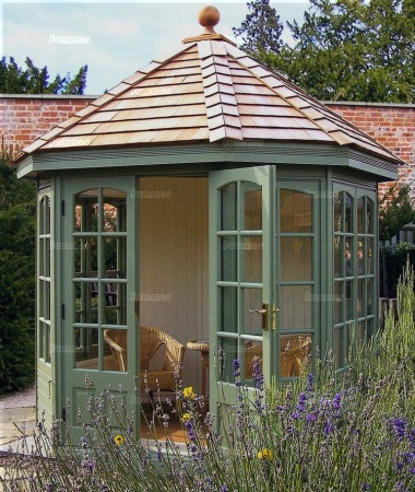 Georgian Octagonal Summerhouse 510 Cedar Painted