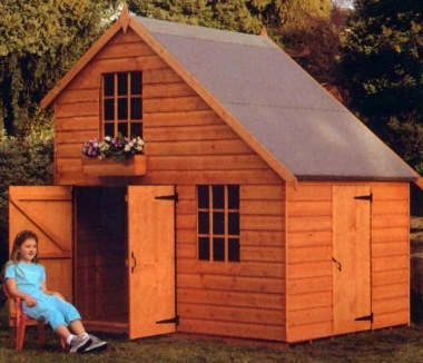 Two Storey Playhouse 181 With Garage