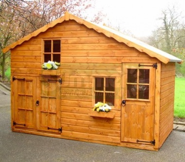 Two Storey Playhouse 135 With Garage