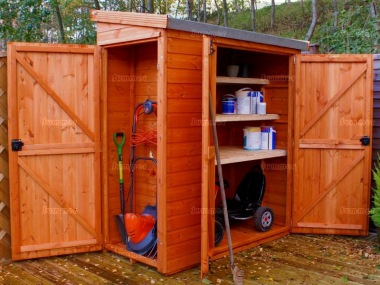 Shiplap Pent Roof Small Storage Shed 715 Multiple Doors