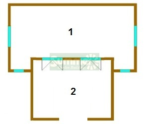 LOG CABINS - Floor plan and sizes
