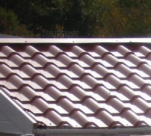 Tile-effect steel roof sheets