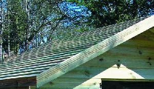SHEDS xx - Pressure treated deal slatted roof