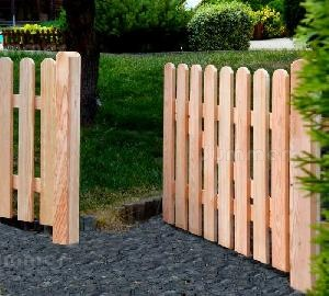 FENCING - Single and double gates, larch