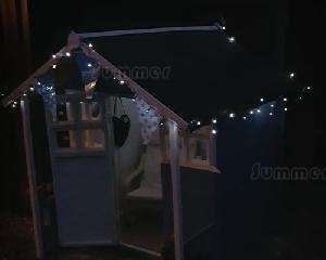 LOG CABINS xx - Solar powered string lights