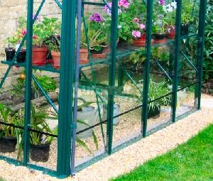 GREENHOUSES xx - Aluminium staging, coloured finish