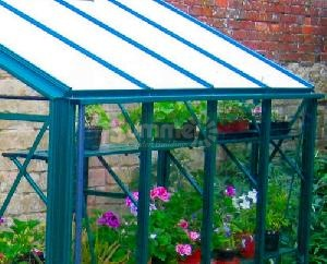 GREENHOUSES xx - Aluminium high level shelving coloured finish