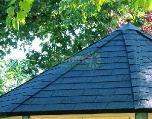 LOG CABINS xx - Roof options - thatched or felt tiles