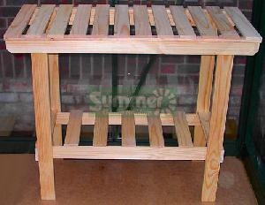 GREENHOUSES - Heavy duty wooden 2 tier staging