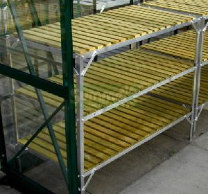 GREENHOUSES xx - Staging 3 tier wooden slatted