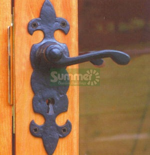 SUMMER HOUSES - Black antique ironmongery