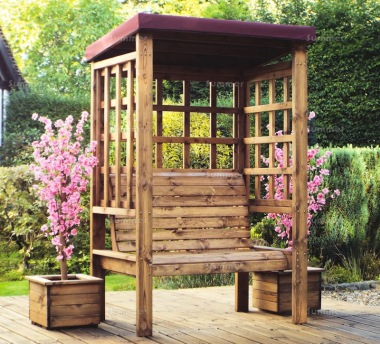 2 Seater Arbour 471 - Burgundy Canopy