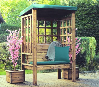2 Seater Arbour 470 - Green Canopy