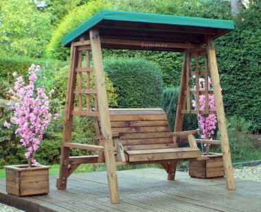 2 Seater Swing Seat 462 - Green Canopy