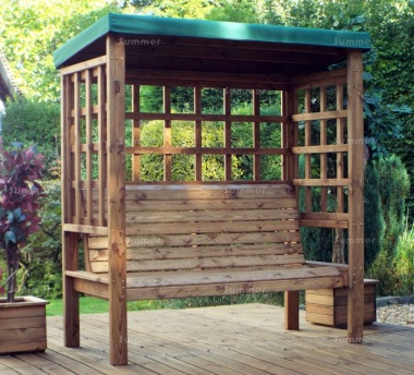 3 Seater Arbour 474 - Green Canopy