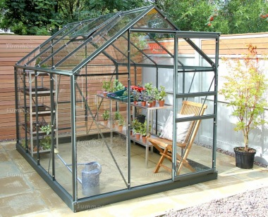 Aluminium Greenhouse 13 - Green, Base Included