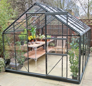 Aluminium Greenhouse 161 - Green, Base Included
