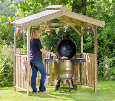 Pressure Treated Barbecue Shelter 962 - Apex Roof