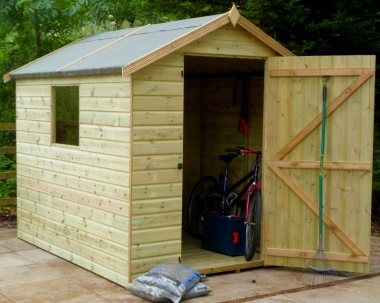 Pressure Treated Apex Shed 910 - Shiplap, T and G Floor and Roof