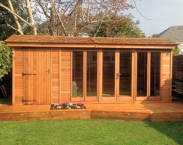 Side Door Apex Summerhouse 533 - Two Rooms, Double Glazed