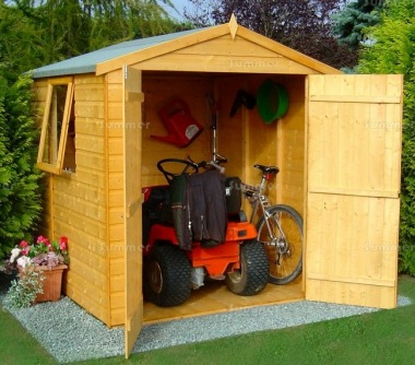 Shiplap Double Door Apex Shed 082 - T and G Shiplap