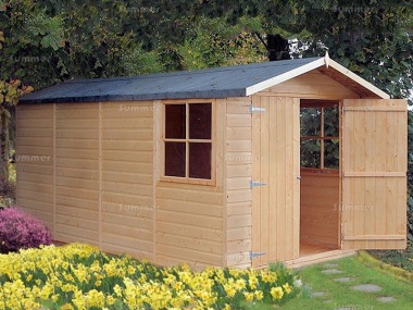 Shiplap Double Door Apex Shed 085