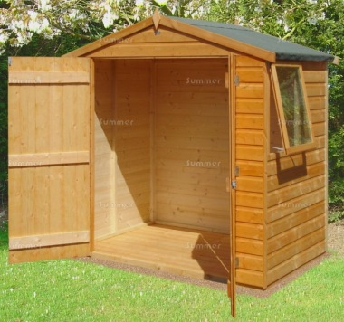 Shiplap Double Door Transverse Apex Shed 905