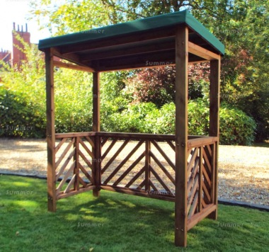 Barbecue Shelter 456 - Green Canopy