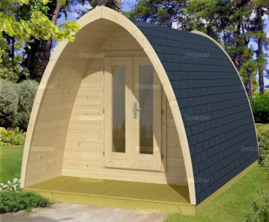 Log Camping Pod 981 - Double Doors, Rear Window