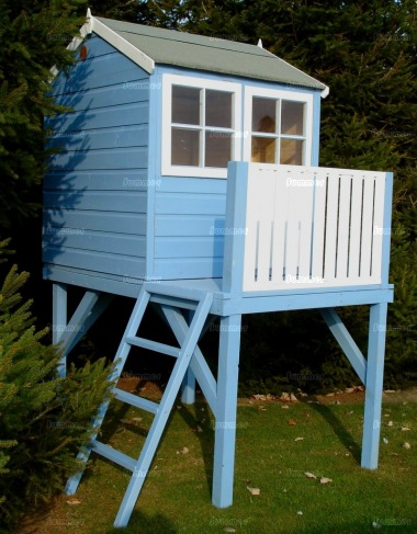Platform Playhouse 803 - With Balustrades and Ladder