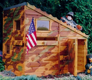 Childrens Playhouse 84 - Army Bunker