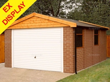 Brick Apex Concrete Garage 172 - Ex Display, Collection Only