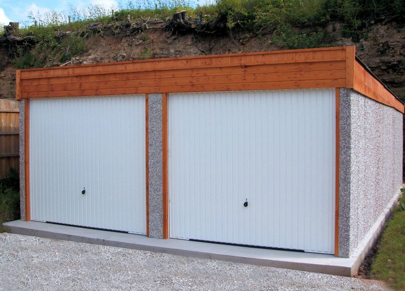 Spar Pent Double Concrete Garage 213