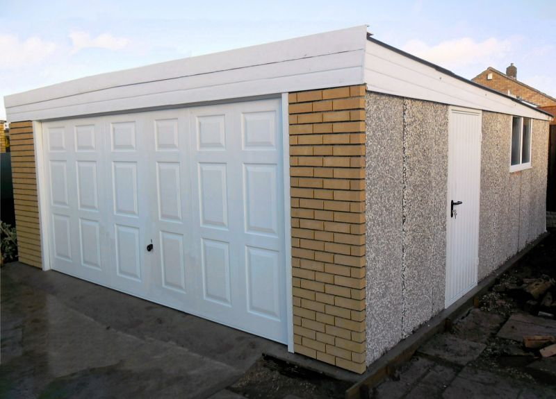 Spar Pent Double Concrete Garage 238 - PVCu Windows and Fascias