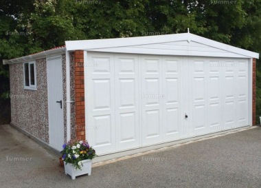 Spar Apex Double Concrete Garage 266 - PVCu Windows and Fascias