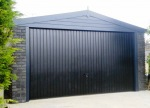 Spar Apex Double Concrete Garage 353 - Charcoal, Brick Posts