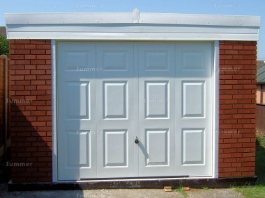 Brick Pent Concrete Garage 360 - PVCu Window and Fascias