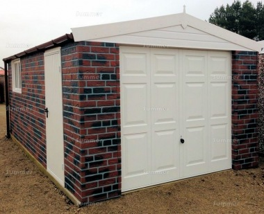 Brick Apex Concrete Garage 380 - PVCu Window and Fascias