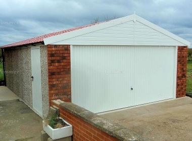 Spar Apex Double Concrete Garage 516 - PVCu Windows and Fascias