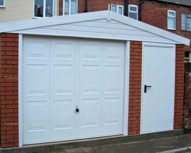 Brick Apex Concrete Garage 625 - PVCu Window and Fascias