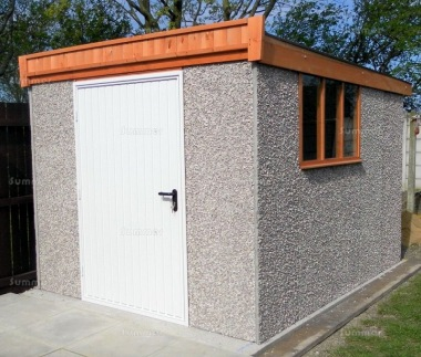Spar Pent Concrete Shed 431 - Powder Coated Steel Door