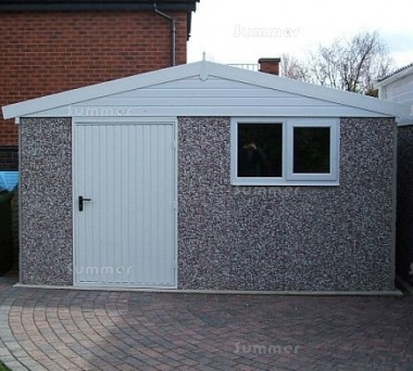 Spar Apex Concrete Shed 692 - PVCu Window and Fascias