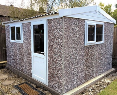 Spar Apex Concrete Shed 783 - PVCu Window, Fascias and Door