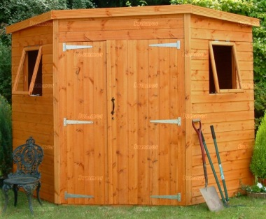 Shiplap Double Door Corner Shed 61 - All T and G