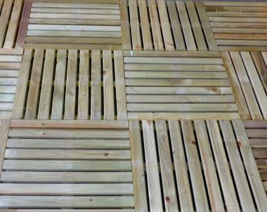 Decking Tile Kit 240 - Pressure Treated, Grooved Finish