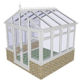 Apex Gable Conservatory 51 - PVCu, Dwarf Wall