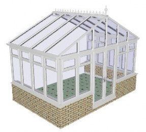 Apex Gable Conservatory 52 - PVCu, Dwarf Wall