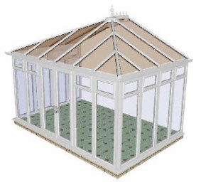 Edwardian Conservatory 67 - PVCu, Fully Glazed